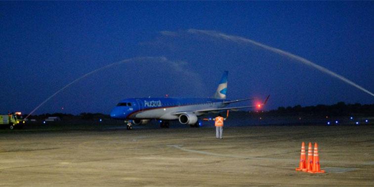 The FTWA for Aerolineas Argentinas Buenos Aires Aeroparque to Parana.