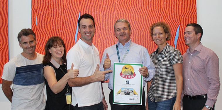 Tigerair Australia - Route of the Week certificate