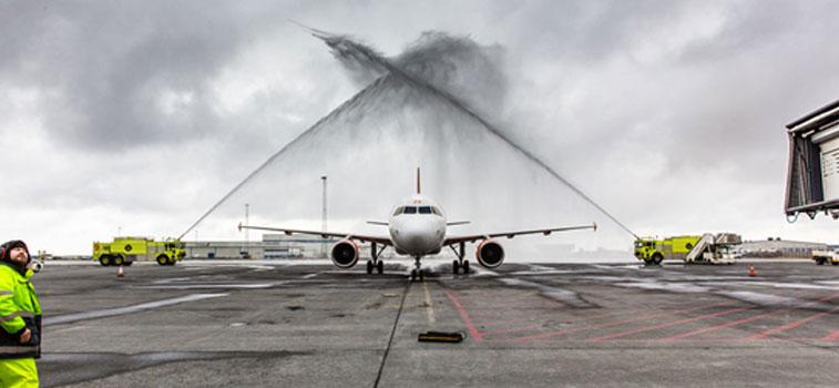 Water Arch 1 -easyJet Reykjavik/Keflavik to Basel