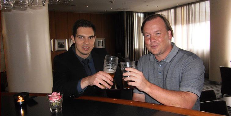 anna.aero's Vlad Cristescu and Kjartan Jónsson, Director Network Planning, Icelandair