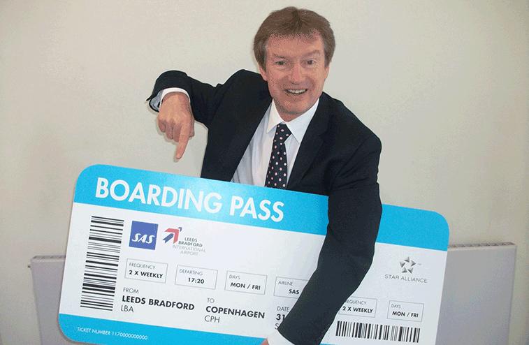 Leeds Bradford Airport celebrated its link to Copenhagen