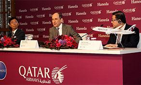 Qatar Airways touches down at Tokyo Haneda