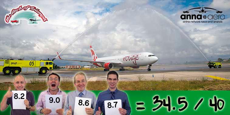 Air Canada rouge Toronto Pearson to Lisbon