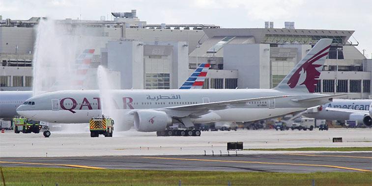 Qatar Airways Doha to Miami 10 June