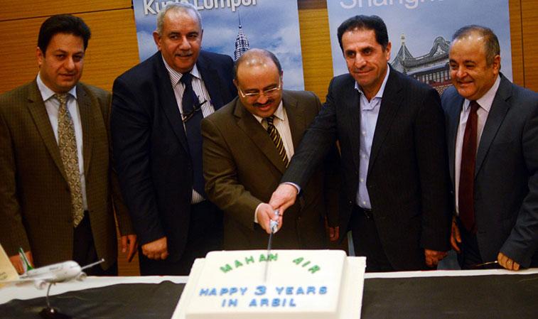 Mahan Air celebrated its third anniversary at Erbil Airport