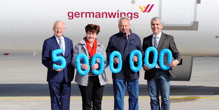 Memmingen Airport passed the magical five million passenger figure