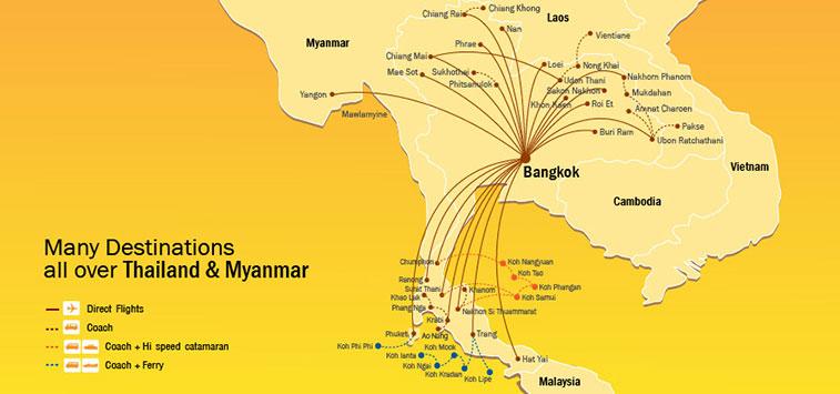 Nok Air Bangkok Routes