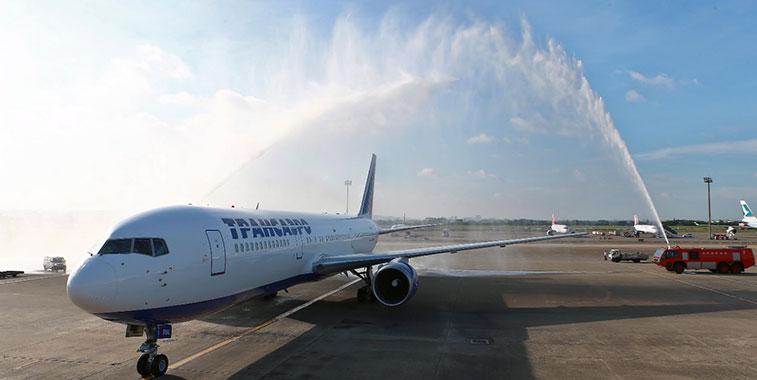 Transaero Airlines' 218-seat 767-300s