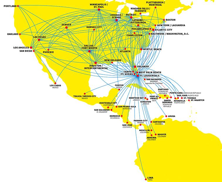 Spirit Airlines' current summer