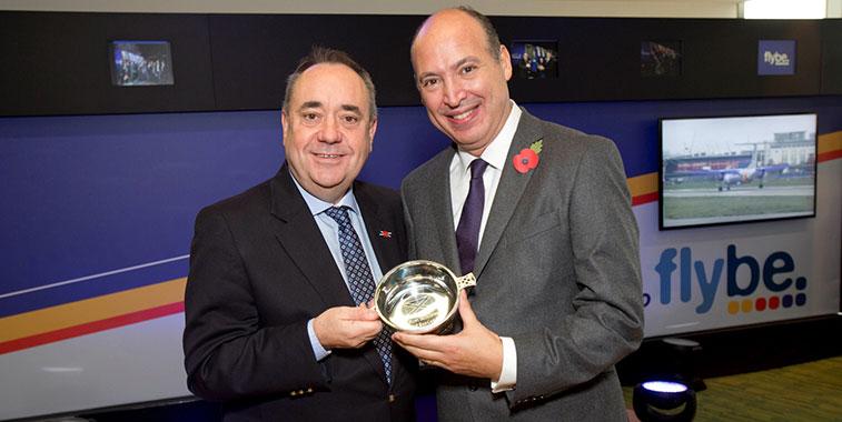 Alex Salmond and Saad Hammad