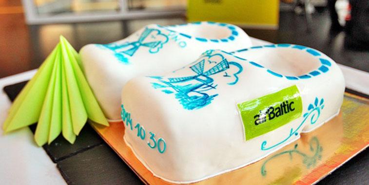 Cake 1 – airBaltic Vilnius to Amsterdam