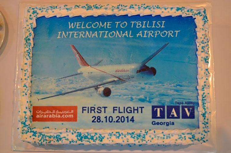 Cake 2 – Air Arabia Sharjah to Tbilisi