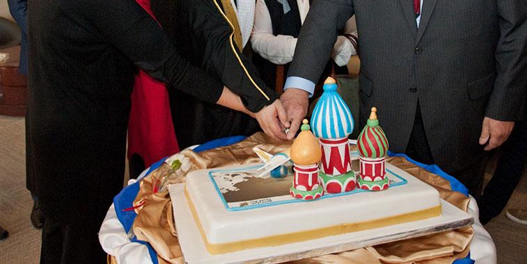 Cake 5 – Gulf Air Bahrain to Moscow Domodedovo