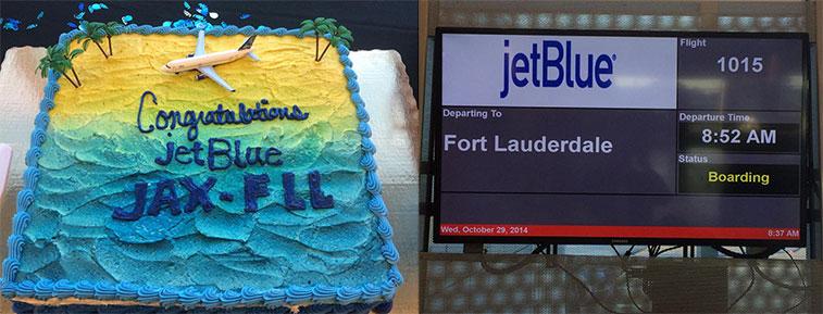 Cake 7 – JetBlue Airways Fort Lauderdale to Jacksonville