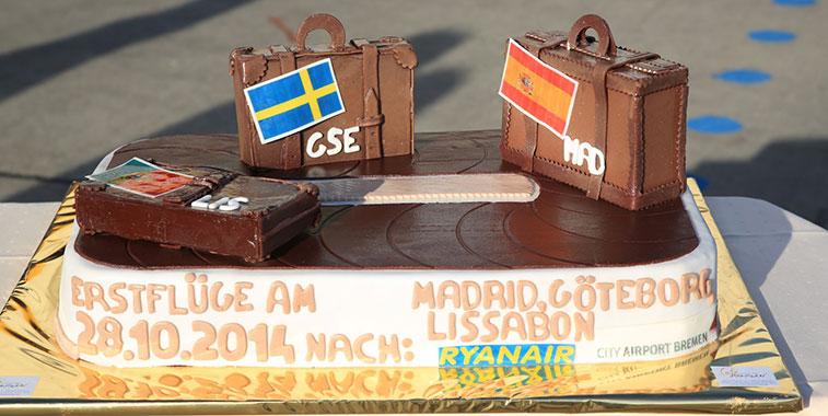 Cake 9 – Ryanair Bremen to Gothenburg City, Lisbon and Madrid