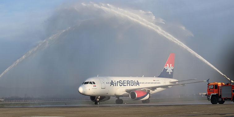 Air Serbia Belgrade to Zagreb 12 December