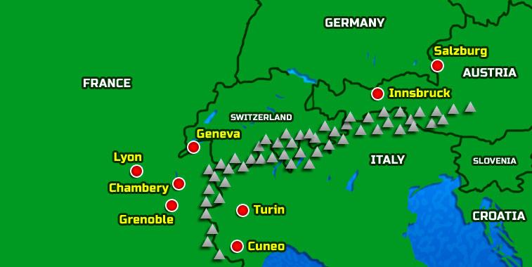 Map Alps Austria Alps Map