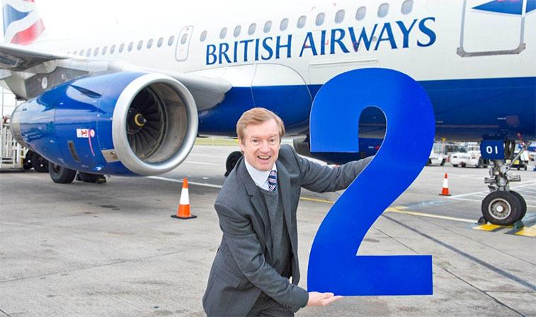 British Airways celebrated its second anniversary at Leeds Bradford Airport