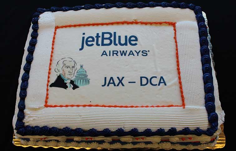 Jacksonville Airport welcomed JetBlue Airways