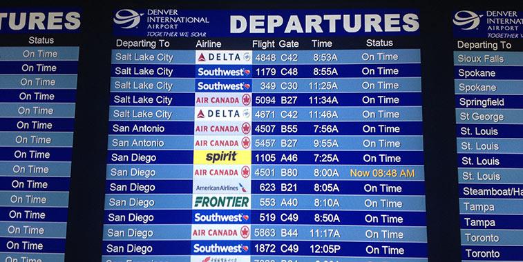 Denver Airport departures
