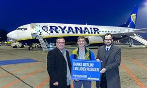 Ryanair marks seven million passengers at Berlin Schönefeld