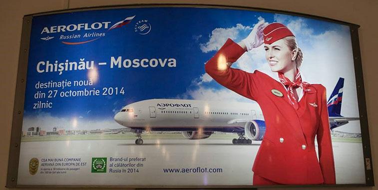 Aeroflot's new service between Moscow Sheremetyevo and Chisinau