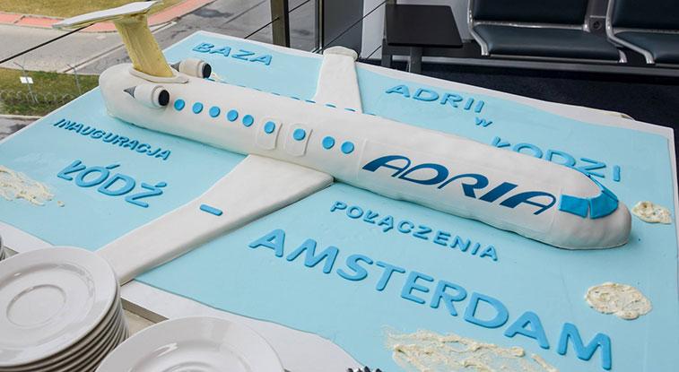 Adria Airways Lodz to Amsterdam