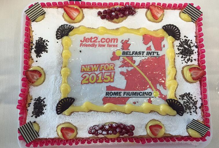 Jet2.com Belfast International to Rome Fiumicino