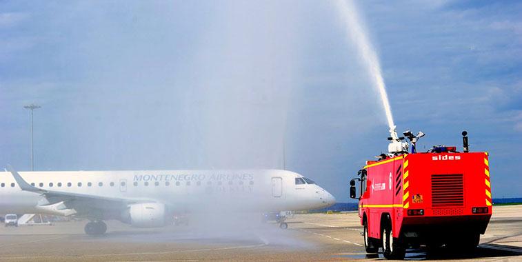 Montenegro Airlines Podgorica to Lyon