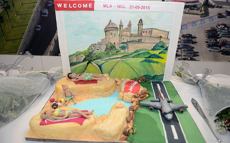 Jet2 Newcastle cake