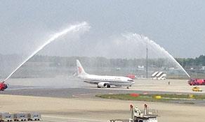 Air China jets off to Tokyo Narita from Tianjin
