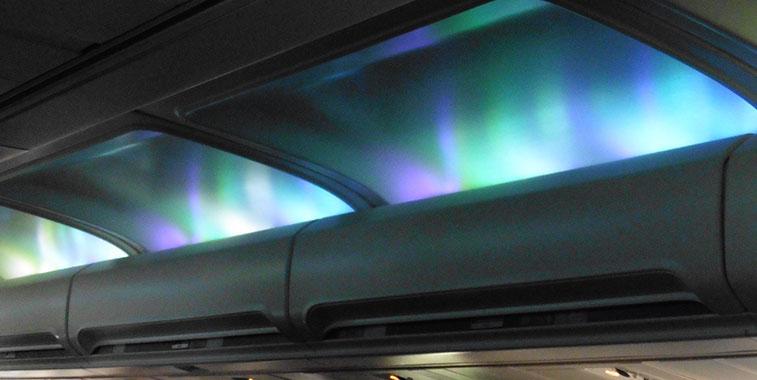 Aircraft lighting - northern lights