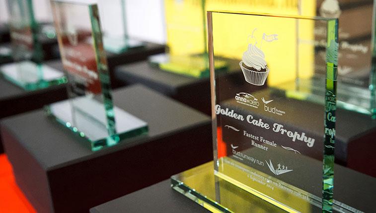 Golden cake trophy