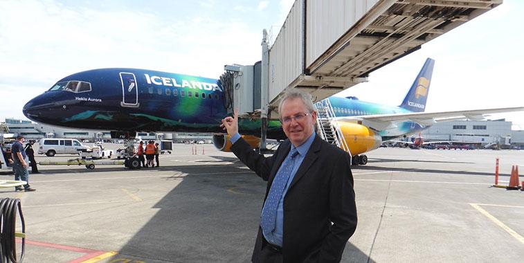 Icelandair Portland departure