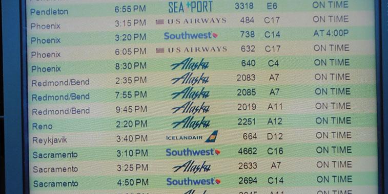 Portland departures