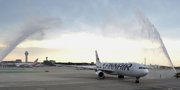 Finnair Helsinki to Chicago