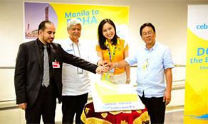 Cebu Pacific Air arrives in Qatar