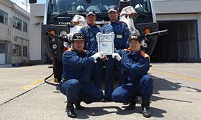 Arch of Triumph certificate and spacemen land in Narita