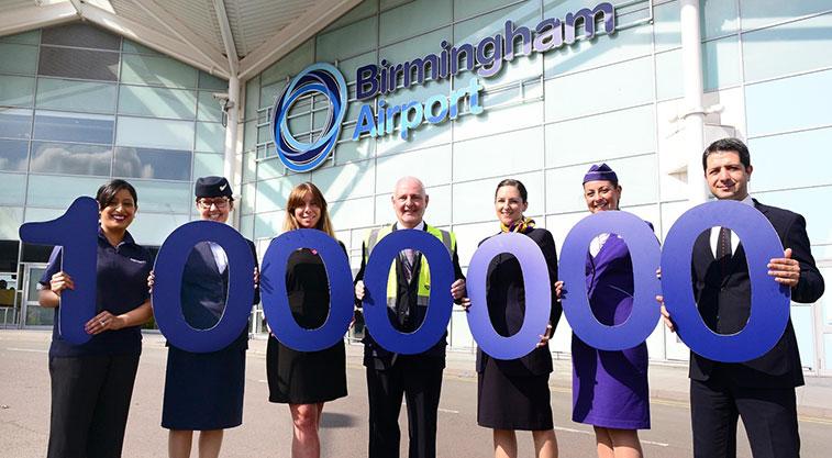 Birmingham Airport one million