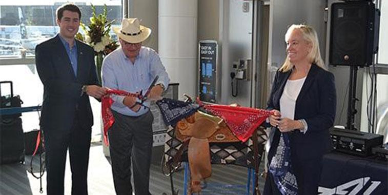 Alaska Airlines bandana cutting ceremony