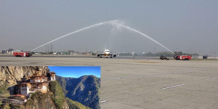 Bhutan Airlines Paro Delhi 15 September