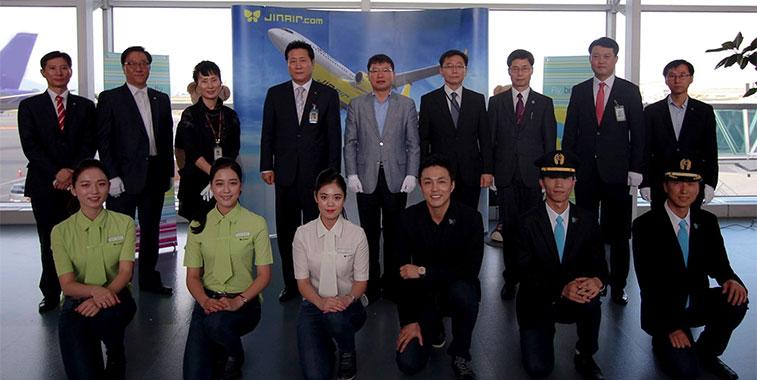 Busan Airport Jin Air crew Osaka Kansai Airport Japan