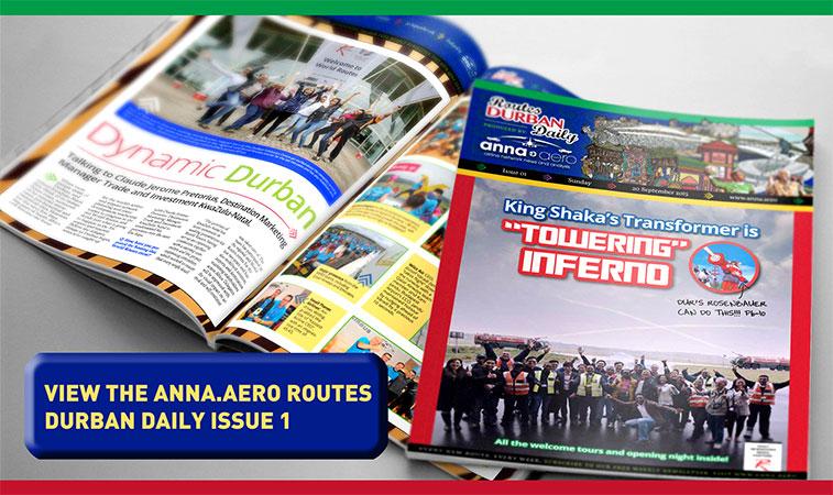anna.aero Routes Durban Daily - Issue 1