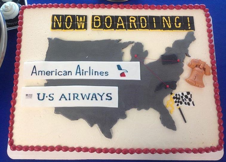 American Airlines Grand rapids cake