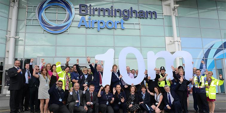 Birmingham airport 10 million