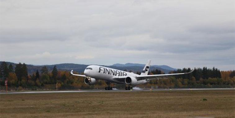 Finnair Oslo Gardermoen from Helsinki A350 to Norway