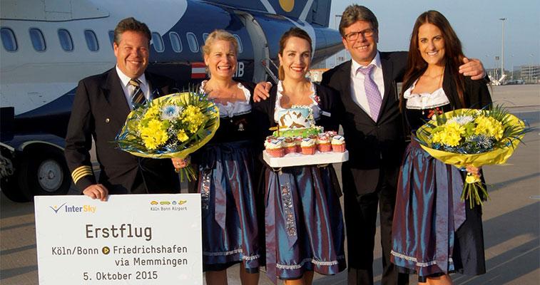 InterSkys Cologne Bonn Friedrichshafen and Memmingen