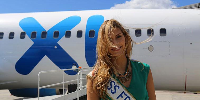 Miss France 2015 Camille Cerf Lille Airport XL Airways France Agadir