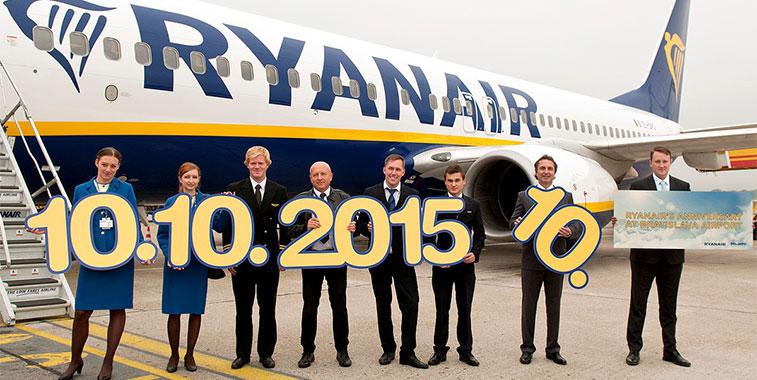 Ryanair 10 year anniversary of services to Bratislava