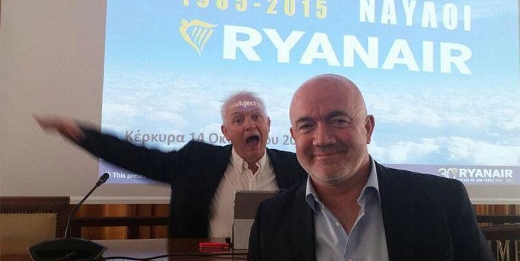 Ryanair Eddie Wilson Chief People Officer David OBrien CCO Corfu